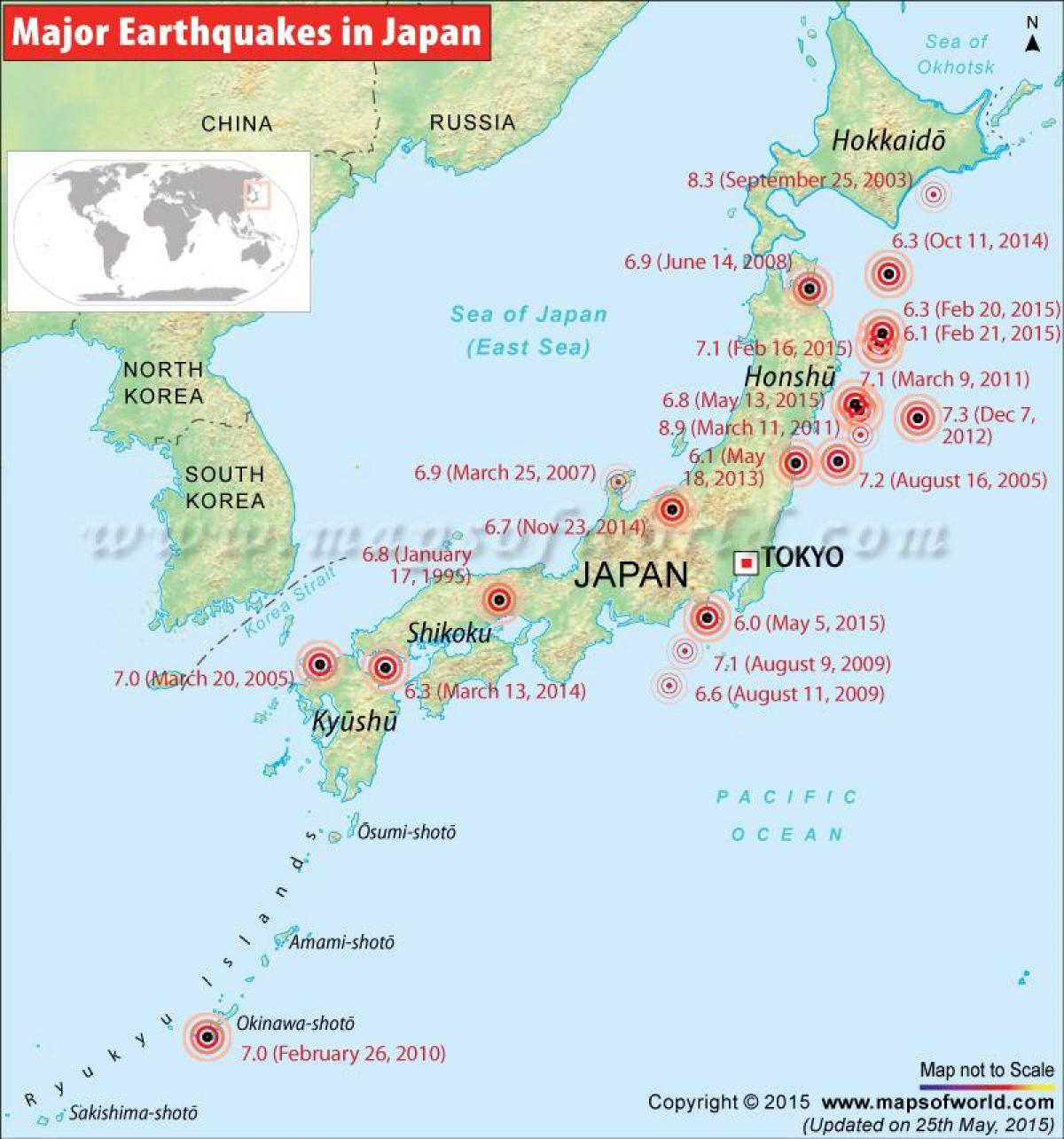 Cities On Honshu Island List