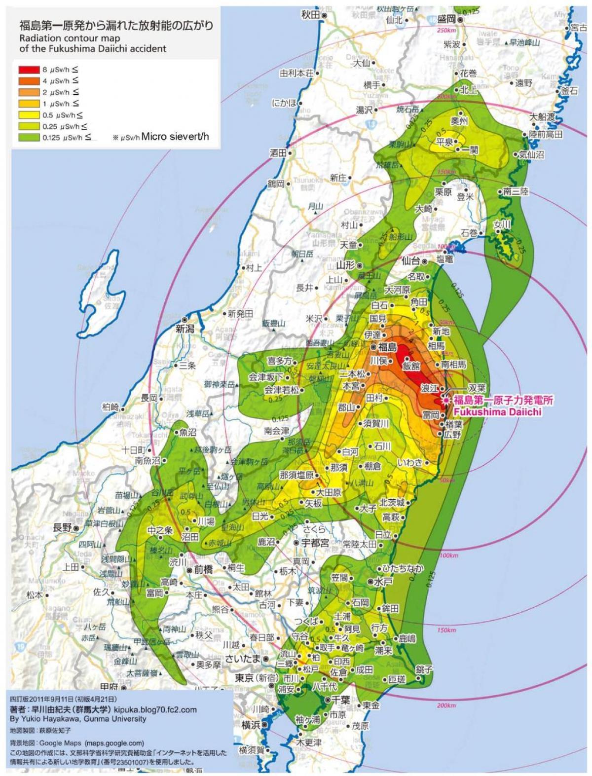Mile Island Radiation Map
